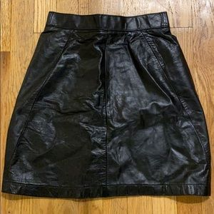 Vintage Wilson black leather high waisted skirt